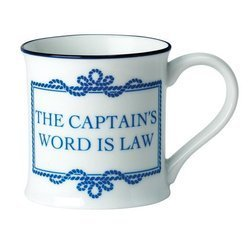 KUBEK PORCELANOWY Captain's word is law 6287