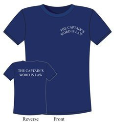 "T-SHIRT ŻEGLARSKI ""CAPTAIN'S WORD IS LAW"" 6374"