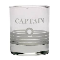 SZKLANKA DO WHISKY 2185 Z NAPISEM CAPTAIN